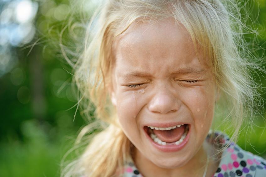Divka slzy babicka