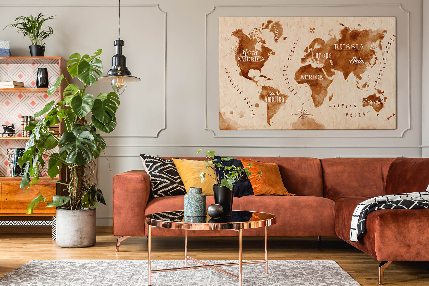 obraz kontinentu mapa sveta