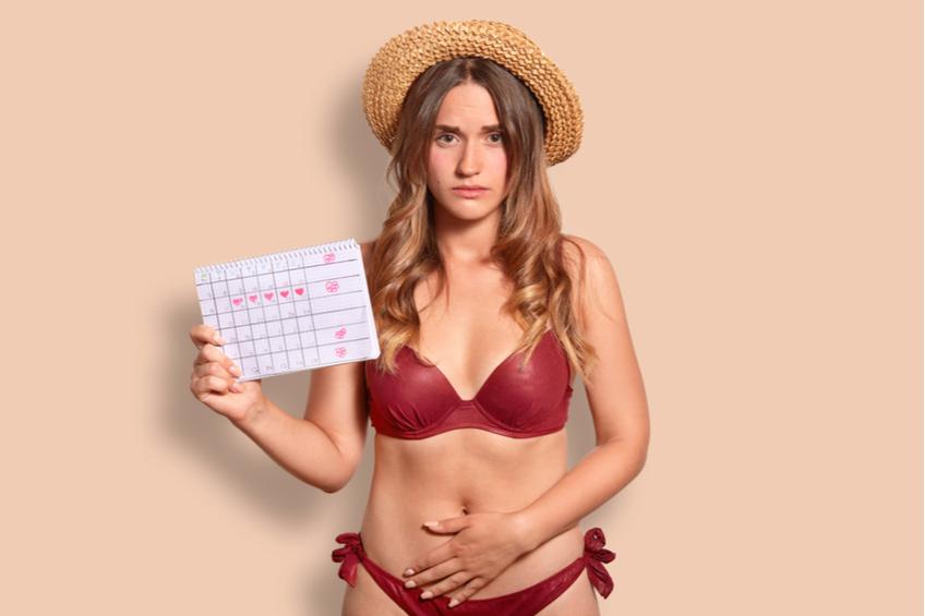 Menstruace behem dovolene